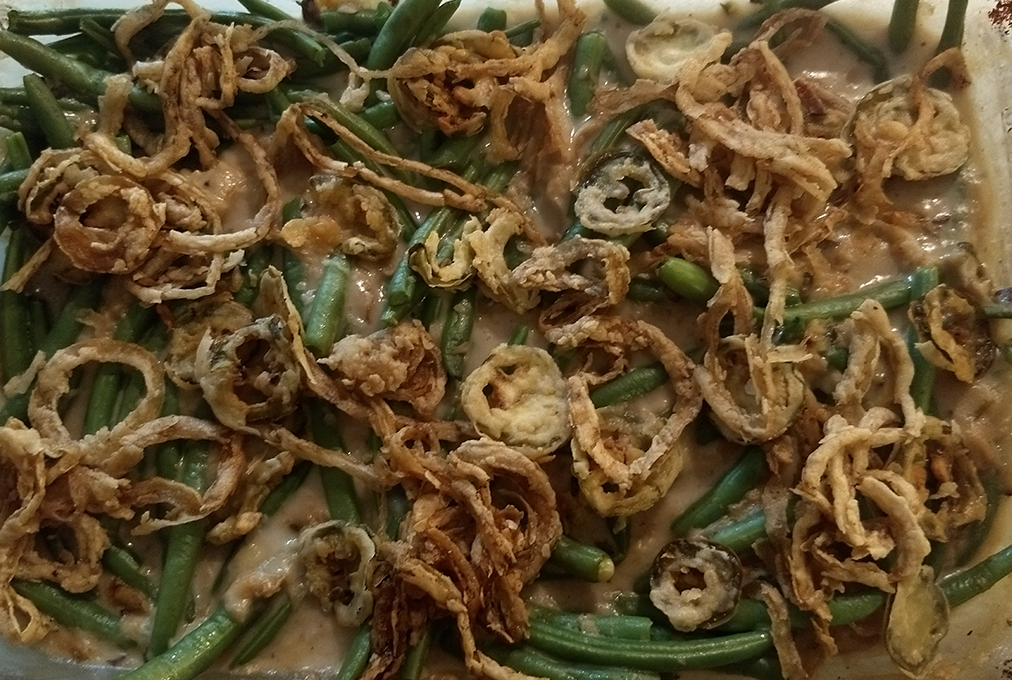 spicy jalapeno green bean casserole